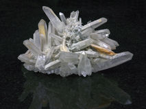 Het kristal van de rots Stock Foto's