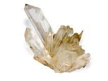 Het kristal van de rots op witte achtergrond Royalty-vrije Stock Fotografie
