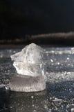 Het kristal van het ijs Stock Afbeeldingen