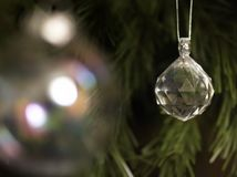 Het Kristal van Kerstmis stock foto's