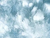 Het kristalachtergrond van het ijs Stock Fotografie