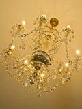 Het kristalkroonluchter van de plafondluxe Stock Foto's