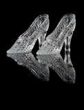 Het kristalschoenen van de vrouw Stock Foto's