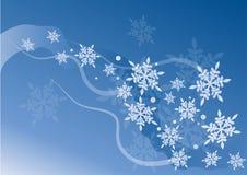 Het kristalvector van de sneeuw Stock Afbeeldingen