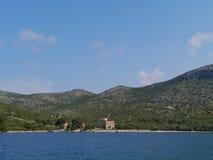 Het Kroatische eiland Lastovo in het Middellandse-Zeegebied Stock Afbeelding