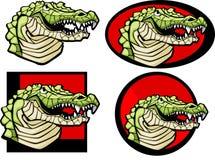 Het krokodille Embleem van de Mascotte royalty-vrije illustratie