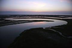 Het kronkelen rivier. Royalty-vrije Stock Afbeelding