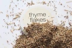 Het kruiden van de thymevlok Royalty-vrije Stock Foto