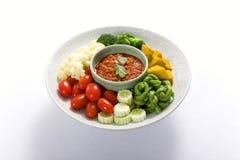Het kruidige Deeg van de Spaanse peper (Nam Prik) Stock Fotografie