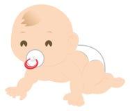 Het kruipen van de baby stock illustratie