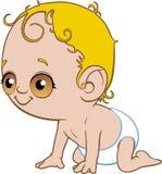 Het kruipen van de baby Stock Afbeelding