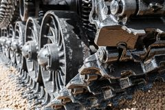 Het kruippakje volgt hydraulica op een tractor of een graafwerktuig royalty-vrije stock afbeeldingen