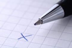Het kruis - daling - ontkent Stock Foto