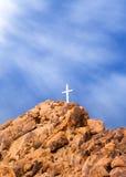 Het Kruis en het Licht van de berg Royalty-vrije Stock Foto's
