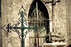 Het Kruis van Cementery Stock Foto's