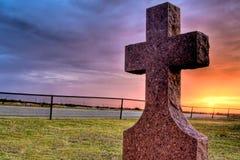 Het Kruis van de begraafplaats Royalty-vrije Stock Afbeeldingen