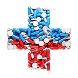 Het kruis van de gezondheid Stock Foto's