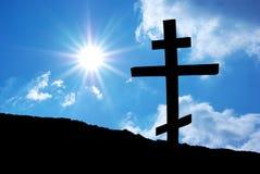 Het kruis van de godsdienst royalty-vrije stock foto's