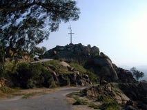 Het Kruis van de heuveltop Stock Afbeelding