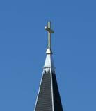 Het kruis van de kerk Stock Foto's