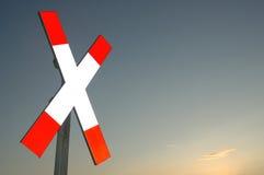 Het kruis van de spoorweg Stock Foto's