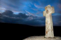 Het kruis van de steen stock afbeeldingen