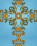 Het kruis van de zonnebloem Stock Afbeeldingen