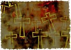 Het kruis van Grunge stock illustratie