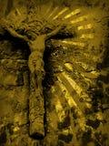 Het kruis van Grunge Stock Afbeeldingen