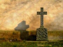 Het kruis van het graf Stock Afbeeldingen