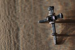 Het kruis van het metaal royalty-vrije stock fotografie