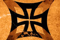 Het Kruis van het metaal stock illustratie