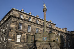 Het Kruis van Mercat, Edinburgh, Schotland stock foto