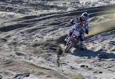 Het kruis van Moto Stock Foto