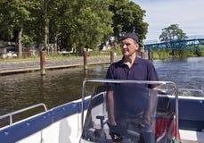 Het kruisen in motorboot Royalty-vrije Stock Fotografie