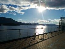 Het kruisen op een schip Royalty-vrije Stock Foto