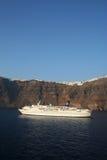 Het kruisen Santorini. Royalty-vrije Stock Fotografie