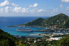 Het kruisen in Tortola royalty-vrije stock foto