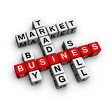 Het kruiswoordraadsel van de markt Stock Foto's