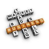 Het kruiswoordraadsel van de markt Stock Afbeelding