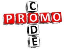 Het Kruiswoordraadsel van de Promocode Stock Fotografie