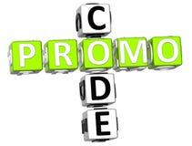 Het Kruiswoordraadsel van de Promocode Stock Foto's