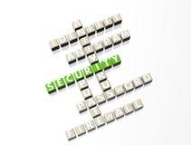 Het Kruiswoordraadsel van de veiligheid Stock Fotografie