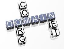 Het Kruiswoordraadsel van het domein Royalty-vrije Stock Afbeeldingen