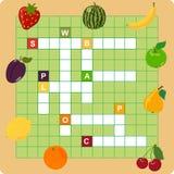 Het kruiswoordraadsel van het fruit Royalty-vrije Stock Afbeeldingen