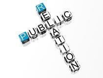 Het Kruiswoordraadsel van Public relations Stock Foto's