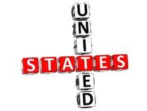 Het Kruiswoordraadsel van Verenigde Staten vector illustratie