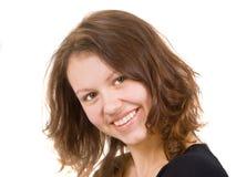 Het krullend-geleide meisje Royalty-vrije Stock Afbeelding