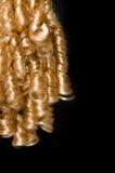 Het krullende haar van de blonde Stock Afbeeldingen