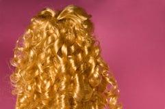 Het krullende haar van de blonde Stock Afbeelding